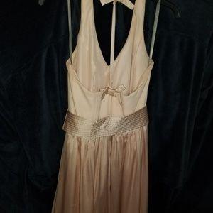 White by Vera Wang Dresses - WHITE BY VERA Wang VNeck Halter Gown Blush sz 10